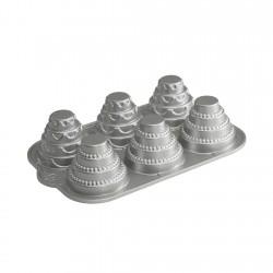 Bandeja 6 Moldes Escalonados 6 Tazas Aluminio Fundido Nordic Ware