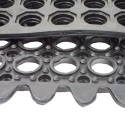 Piso Antifatiga 90x90cm Negro Interlock Rbmi-33K