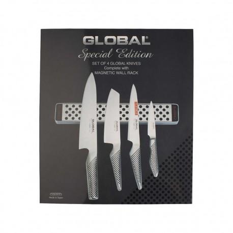 Set 4 Cuchillos con Barra Magnética G251 Global